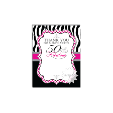 30 40 50 60th blank birthday thank you card 50 u0026 fabulous