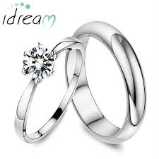 promise ring sets polished domed wedding band cubic zirconia diamond engagement