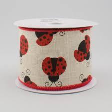 ladybug ribbon 2 5 canvas ladybug ribbon 10 yards rg1627 craftoutlet