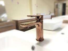 plush rose gold square u0026 round bathroom basin mixer homegear