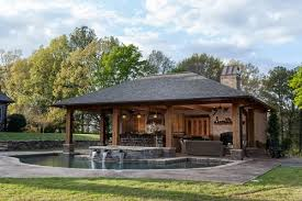pool house rustic mississippi pool house landscaping network