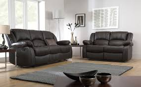 Recliner Sofa Suite Dakota Leather Recliner Sofa Suite 3 2 Seater Brown Product
