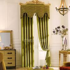 Green Valance Elegant Curtains Room Darkening Solid Dark Green No Valance