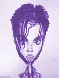 prince u0027s life in hair over 35 drawn by illustrator gary card
