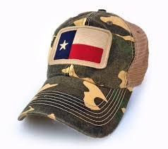 texas flag patch trucker hat camo