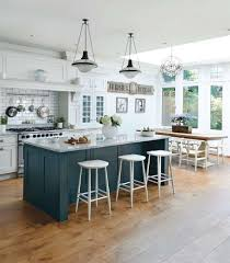 fancy colorful kitchen island stools blue wooden with shelves and