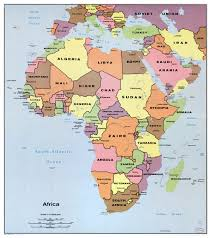 Map Of Africa Blank by Large Detailed Political Map Of Africa With All Capitals U2013 1982
