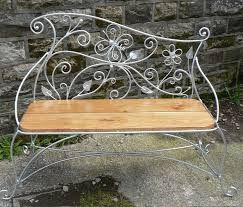 butterfly and daisy bench