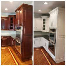 best color to paint kitchen with cherry cabinets tips for painting cherry cabinets white dengarden