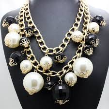 chunky pearl fashion necklace images New arrival handmade imitation gold chain big pearl fashion jpg
