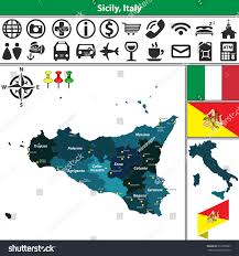 Map Of Italy With Regions by Vector Map Region Sicily Regions Location Stock Vector 513255967