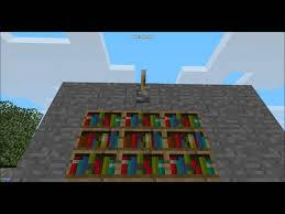 Minecraft Secret Bookshelf Door Minecraft Redstone Secret Bookshelf Door Youtube