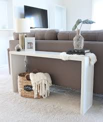 back of couch table diy console table behind couch designs