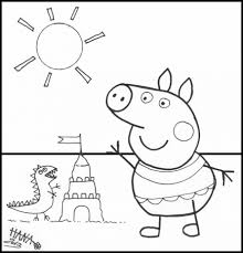 free coloring pages peppa peppa pig coloring pages