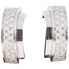 piaget earrings piaget 18 karat gold and diamond creole earrings for sale at 1stdibs