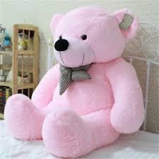 big teddy 39 stuffed 100cm big pink plush teddy soft 100