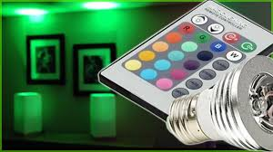 multi color changing led bulb with remote controller urbia me