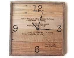 personalized anniversary clock anniversary gift wedding gift wedding vows personalized gift