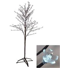 Barcana Christmas Trees by 6 5 U0027 Enchanted Garden Led Lighted Cherry Blossom Flower Tree