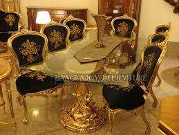 luxury dining room sets royal style solid wood dining table set with chairs