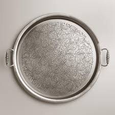 metal platters serving trays world market
