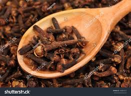 Cloves Cloves Spice Wooden Spoon Closeup Food Stock Photo 130864313