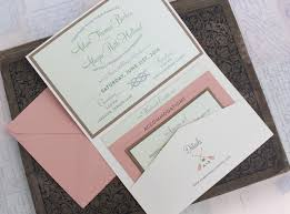 wedding pocket invitations vintage large letter postcard wedding invitation printed pocket