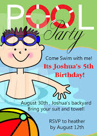 cool pool party invitations free printable invitation design