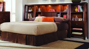full size headboard with shelves ideas bedroom organize your decor