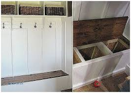 Build A Storage Bench Storage Benches And Nightstands Beautiful How To Build A Mudroom