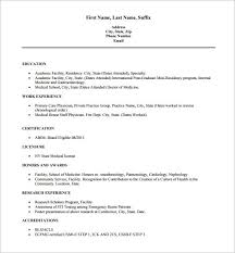 Reverse Chronological Order Resume Example by Doctor Resume Templates U2013 15 Free Samples Examples Format
