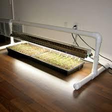 shop light for growing plants diy pvc grow light stand vegetable gardener