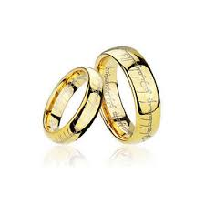 lord of the rings wedding band men s and women s gold plated tungsten lord of the rings wedding