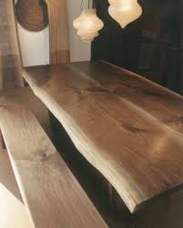 Black Walnut Table Top by Canadian Black Walnut Slab Dining Table From Broadbent Furniture