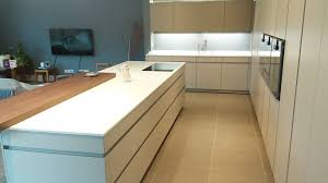 white corian kitchen worktop installation in leamington spa
