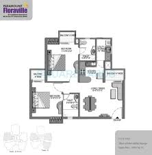 2 bhk 1045 sq ft apartment for sale in paramount floraville at 2 bhk 1045 sq ft apartment floor plan