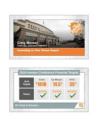 Seeking Hd Home Depot Hd Investor Presentation Slideshow Home Depot