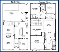 two story house plans with master on main floor apartments two story house layout simple two story house floor