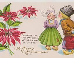 christmas postcard christmas postcard etsy