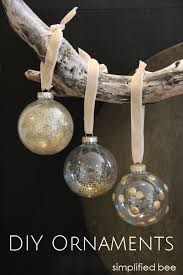diy gold glitter glass ornaments simplified bee ornaments