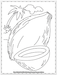 coconut printable coloring page free printable kids coloring pages