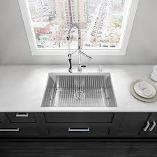 All In One Kitchen Sink And Cabinet by Shop Vigo 30 0 In X 19 0 In Premium Satin Single Basin Stainless