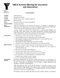 Resume For Child Care Job Camp Counselor Job Description For Resume Resume For Your Job