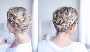 hairstyles for a wedding for medium length hair braided crown tutorial for medium length hair youtube