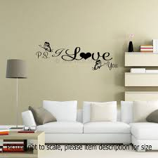 wall stickers home decor ps i love you