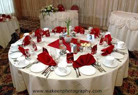 red and white table decorations for a wedding table settings for weddings