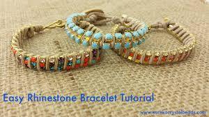 bracelet beaded diy images Easy rhinestone chain bracelet tutorial 2015 eureka crystal jpg