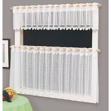 Thermal Cafe Curtains Caprice Jenni Sheer Cafe Curtain White 160 X 60 Cm Curtains