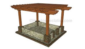 Attached Pergola Plans by Pergola Design Howtospecialist How To Build Step By Step Diy