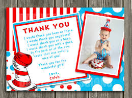 Dr Seuss Baby Shower Invitation Wording - printable dr seuss inspired photo thank you card cat in the hat
